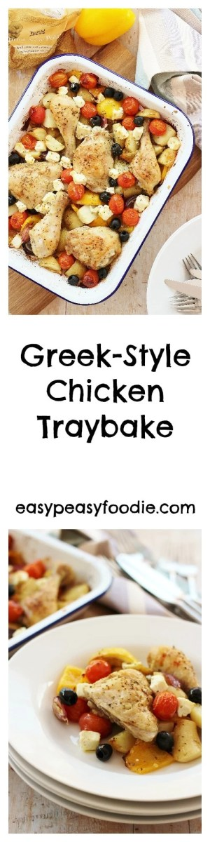 A simple midweek chicken dish, made with Tesco Cypriot New Potatoes, this Greek Style Chicken Traybake can be prepared in 10 minutes, making it perfect for busy days.
