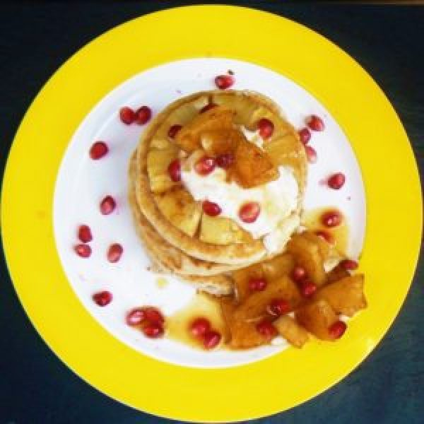 Coconut & Lime Freefrom Pancakes with Grilled Pineapple & Ginger Syrup