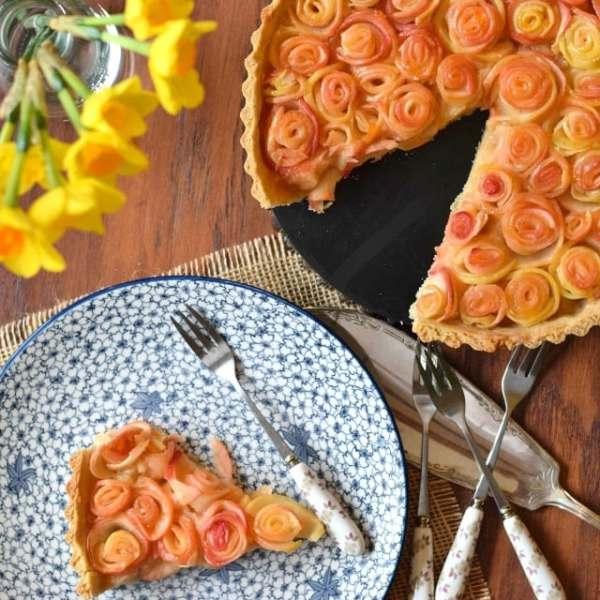 Apple Rose Tart for Mother's Day