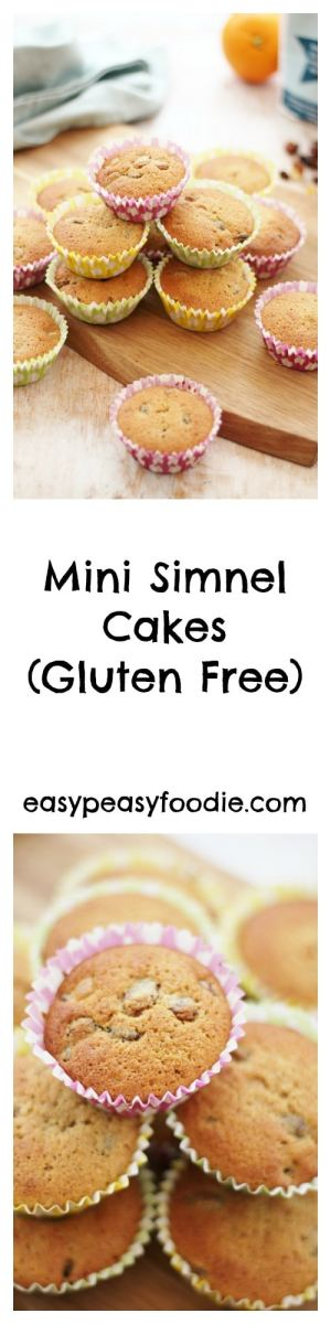 All the delicious flavours of a traditional Simnel Cake in an easy to make cupcake size, these Mini Simnel Cakes are also gluten free and have an exciting marzipan surprise inside!