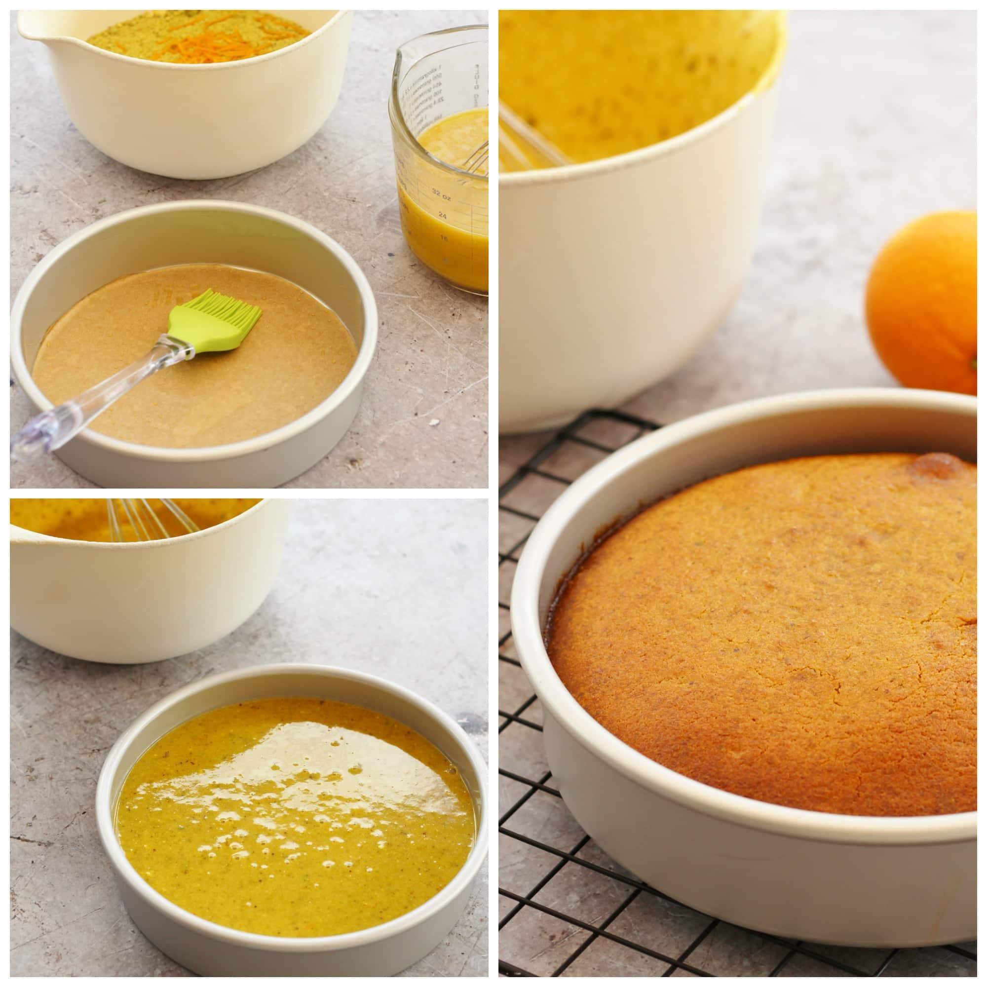 Boiled Orange Almond Cake With Honey