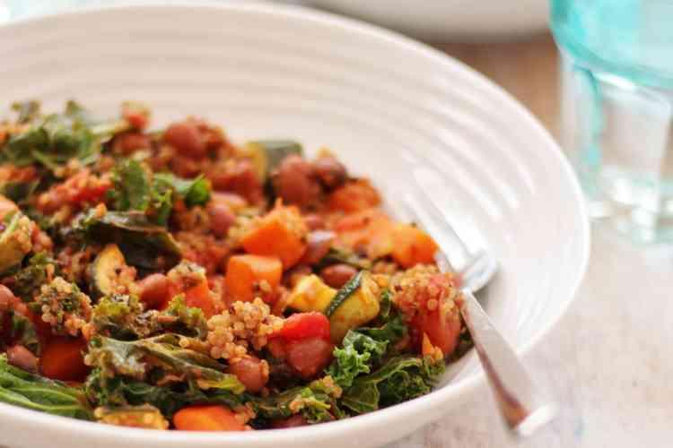Quinoa, Kale and Borlotti Bean Stew