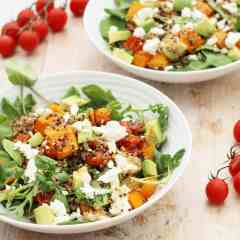 Squash, Quinoa, Avocado and Feta Salad