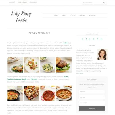 Work With Easy Peasy Foodie