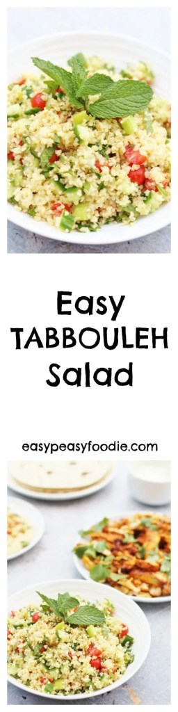 Want to know what my most requested recipe is? It's this Easy Tabbouleh Salad – a deliciously simple dish to make to take along to a BBQ or pot luck dinner and the perfect accompaniment to my Oven Baked Chicken Shawarma.