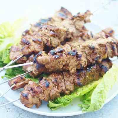 Greek Style Lamb Kebabs (Souvlaki)
