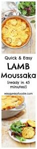 Easy Lamb Moussaka