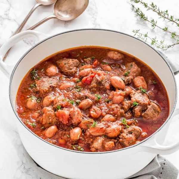 Slow Cooked Beef, Anchovy and Bean Stew