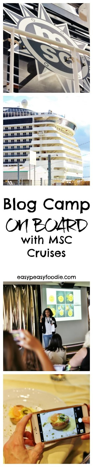 Life as a blogger can have its glamourous moments…discover what I got up to on my day aboard the MSC Preziosa for Blog Camp On Board! #BlogCampOnBoard #MSCCruises #Cruise #CruiseShip #Cruising #Blogging #Bloggers #BlogCamp