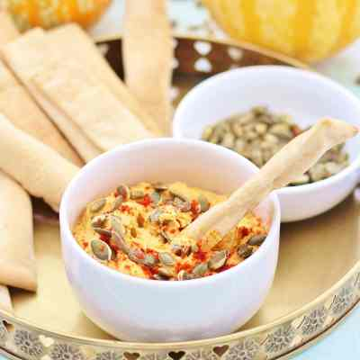 Roasted Pumpkin Hummus (Vegan)