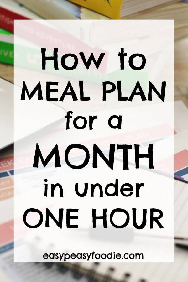 want to get all your meal planning and shopping lists done for a whole month