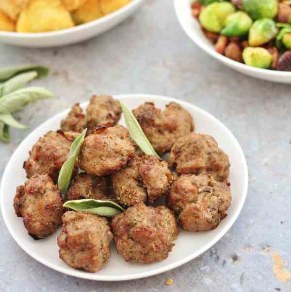 Pork, Sage and Onion Stuffing Balls (Gluten Free, Dairy Free, Egg Free, Nut Free)