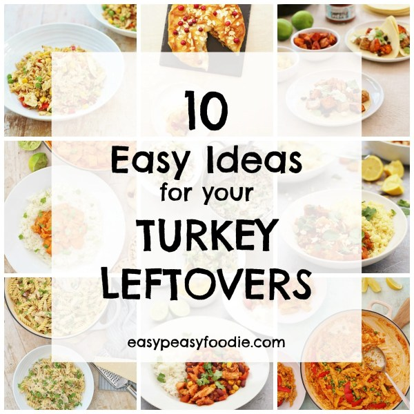 Need a few ideas for how to make the most of your leftover roast turkey this year? Want something a bit more exciting than turkey sandwiches AGAIN? Check out these 10 Easy Ideas for your Turkey Leftovers. #turkey #leftovers #leftoverturkey #turkeyleftovers #boxingday #christmas #easypeasyfoodie