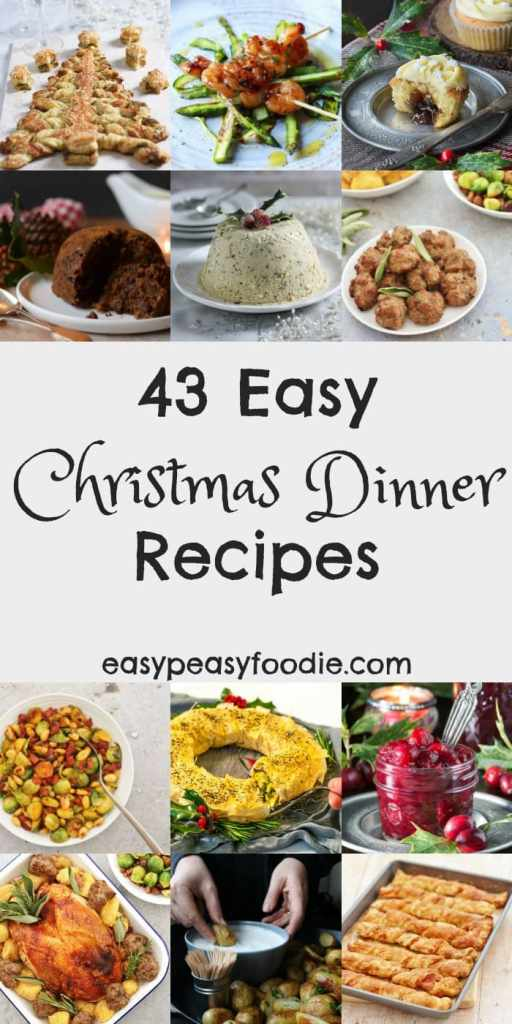 Christmas dinner doesn't have to be stressful! Make your life easier this year by cooking up some of these easy Christmas dinner recipes.. Full of tips, tricks and cheats, these easy Christmas menu ideas, from me and my fellow food bloggers, are sure to make Christmas morning a much less stressful and more enjoyable affair….but no less delicious!! #christmas #christmasdinner #easychristmasdinner #easychristmasrecipes #christmasrecipes #christmasfood #christmasmenu #easychristmas #easypeasyfoodie