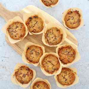 Easy Christmas Cake Muffins (Gluten Free, Nut Free, Alcohol Free)