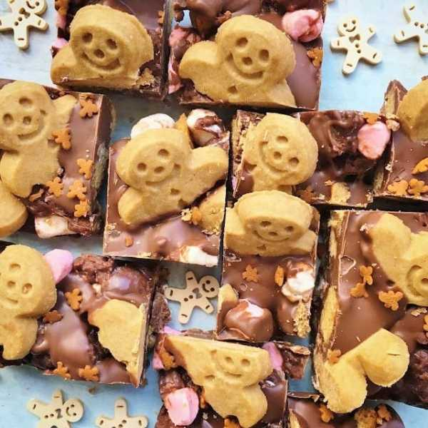 Gingerbread Men Rocky Road