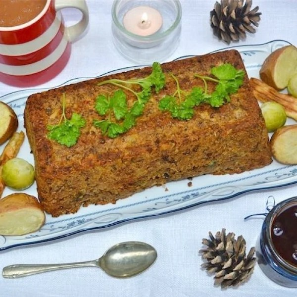 Lentil and Brazil Nut Roast
