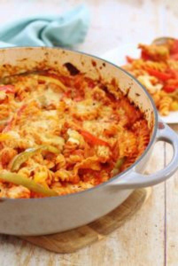 Easy One Pot Chicken Fajita Pasta