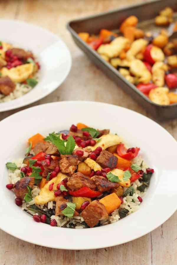 Warm Lamb and Halloumi Rice Salad