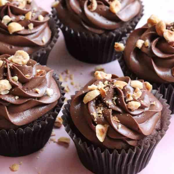 Vegan Chocolate Hazelnut Cupcakes