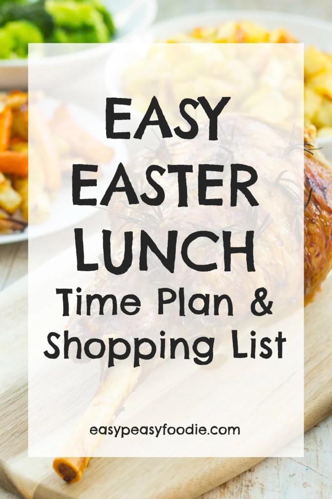 Stressed about Easter lunch? Worry no more! I've put together an Easy Easter Lunch Time Plan and Shopping List. All the deliciousness, none of the stress!