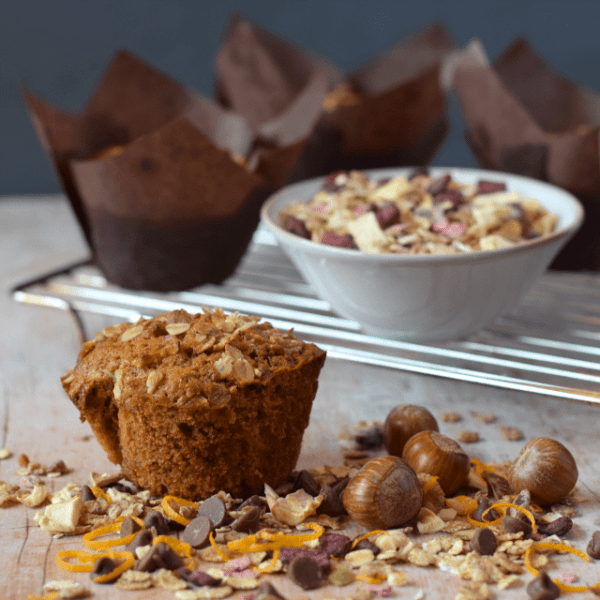 Breakfast Muesli Muffins from Angela at Only Crumbs Remain