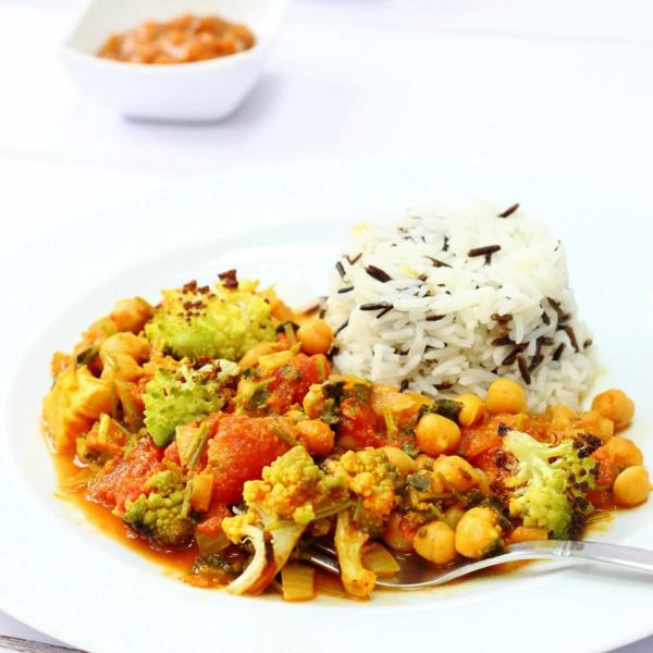 Nutty Roasted Romanesco Curry from Corina at Searching for Spice