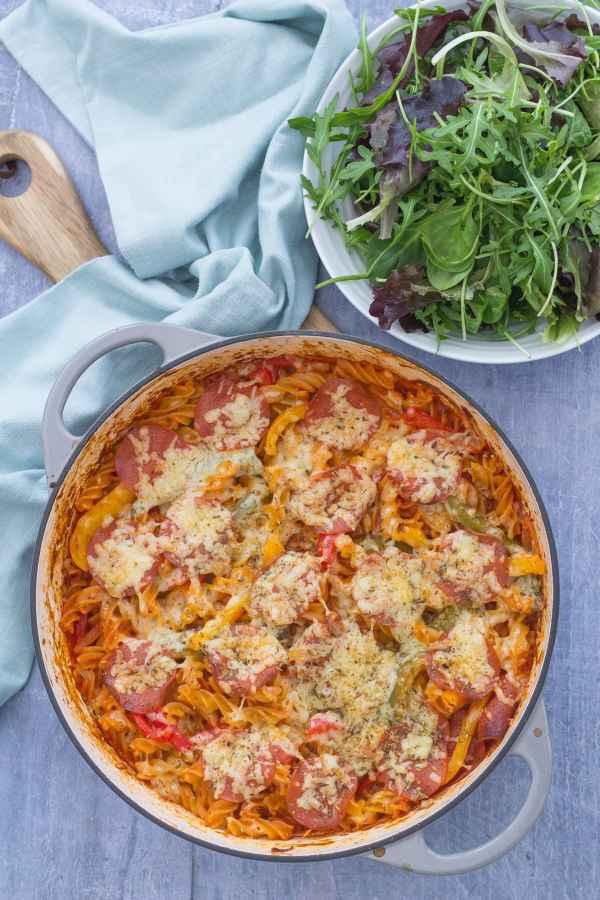 Easy One Pot Pepperoni Pizza Pasta