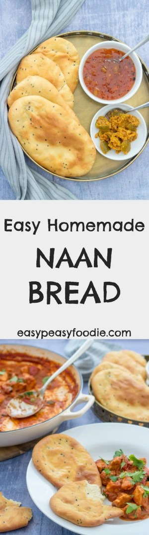 Ever considered making naan bread at home but been put off by long and complicated sounding recipes? Then my Easy Homemade Naan Bread is for you! I've simplified the recipe without compromising on flavour or texture, plus they are oven baked to make them even easier. #naan #nan #bread #naanbread #ovenbaked #curry #indian #easy #quick