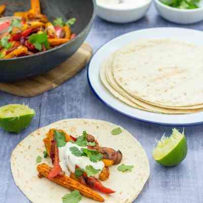 Easy Vegetable Fajitas