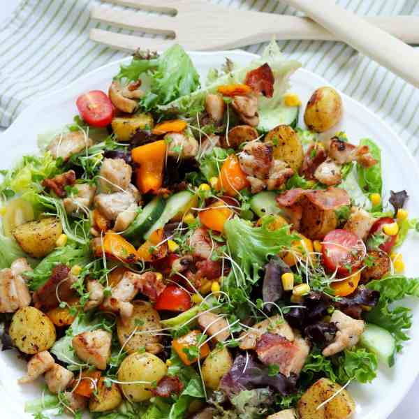 Simple Chicken and Bacon Salad