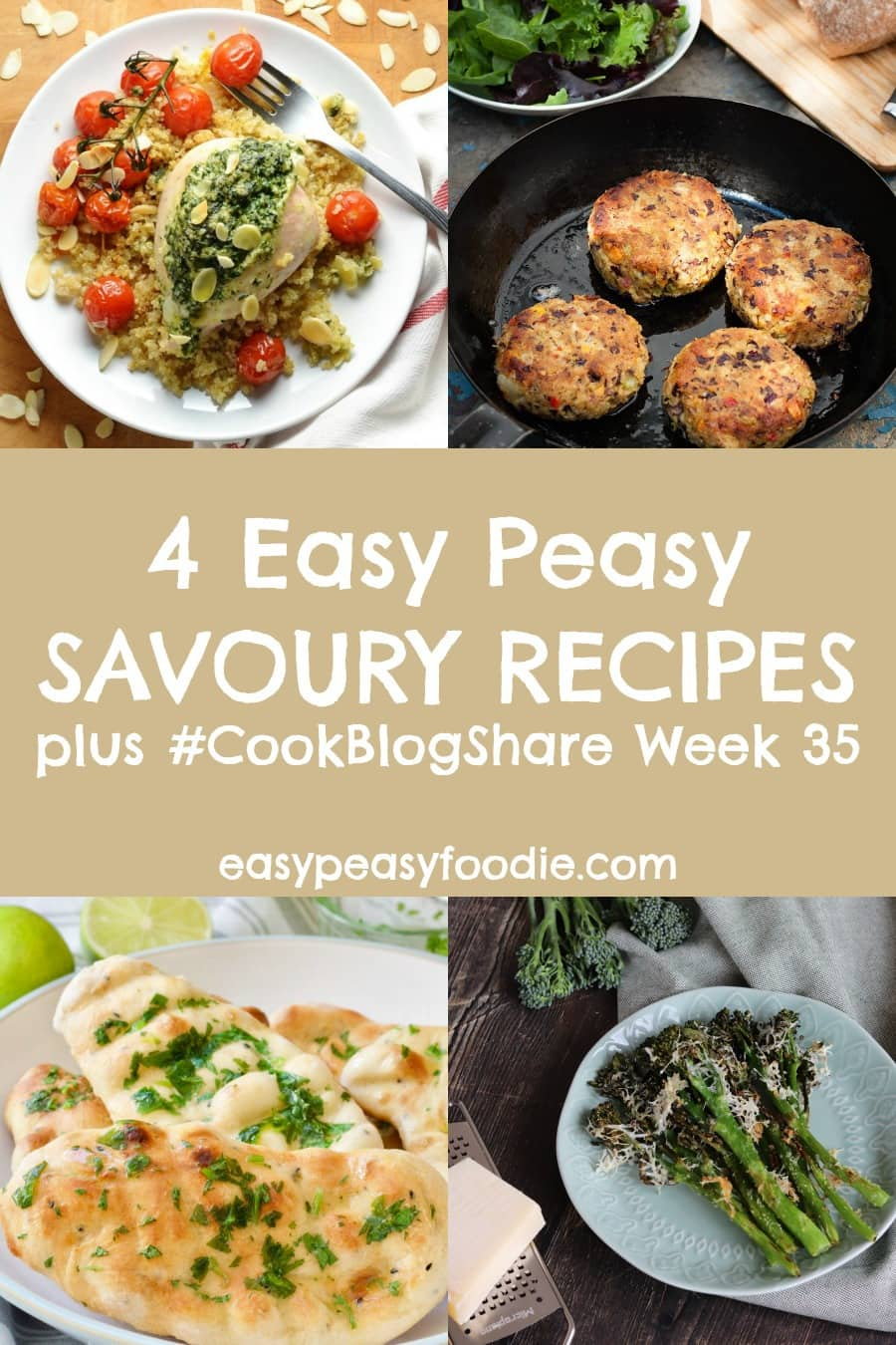 This week I am showcasing 4 delicious and very easy savoury recipes in my CookBlogShare roundup, as well as sharing the linky for #CookBlogShare week 35.