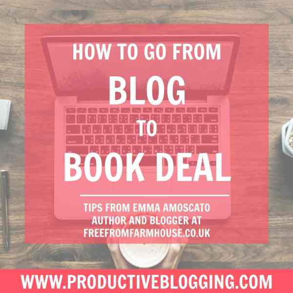 How to from blog to book deal