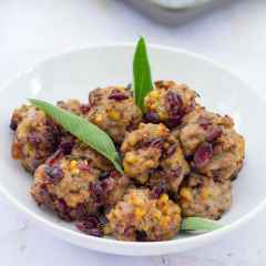 Chestnut and Cranberry Stuffing Balls