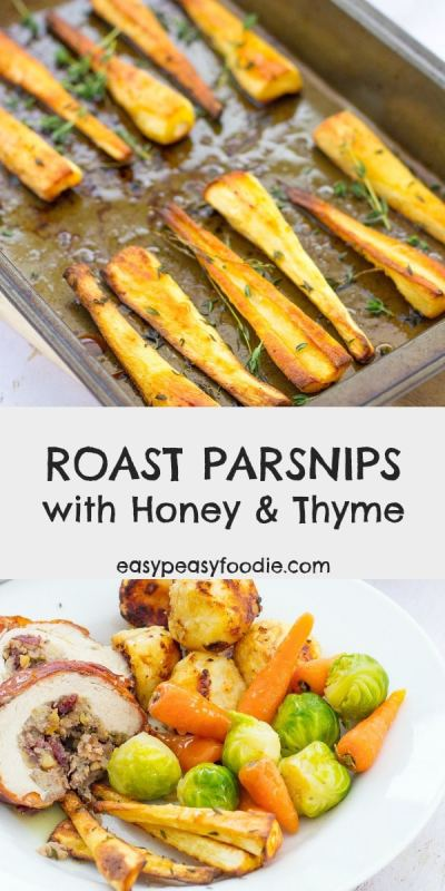 An essential on our Christmas dinner table – and indeed with any roast dinner, these Roast Parsnips with Honey and Thyme are super easy to make and taste incredible! #parsnips #roastparsnips #honeyroastparsnips #christmasdinner #easychristmasdinner #easychristmasrecipes #christmasrecipes #christmasfood #christmasmenu #easychristmas #easypeasyfoodie #cookblogshare #easypeasychristmas