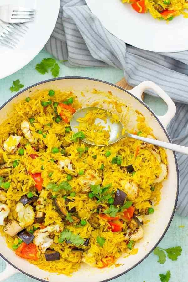 Easy Vegetable Biryani