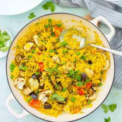 Easy Vegetable Biryani (Vegan)