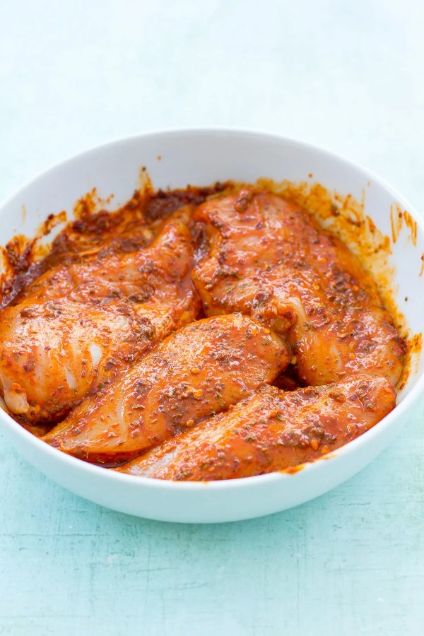 Nandos Peri Peri Chicken Marinating