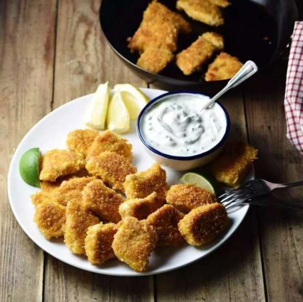 Crispy Healthy Cornflake Chicken Nuggets