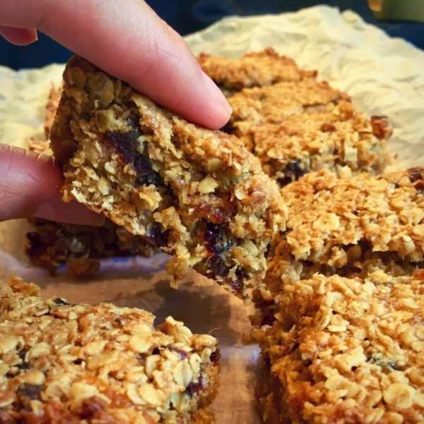 Squidgy Date and Coconut Flapjacks