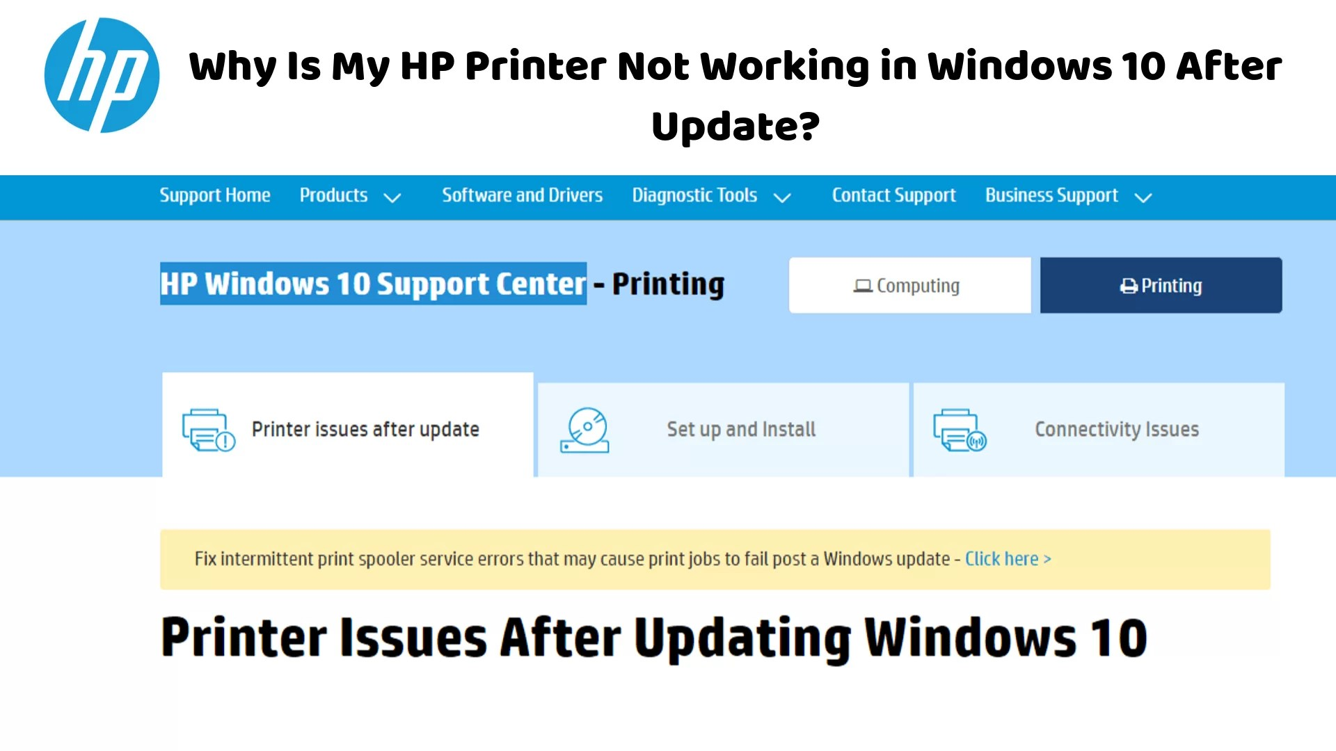 HP Printer Not Working in Windows 10