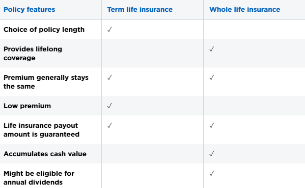 term-life-whole-life-differences