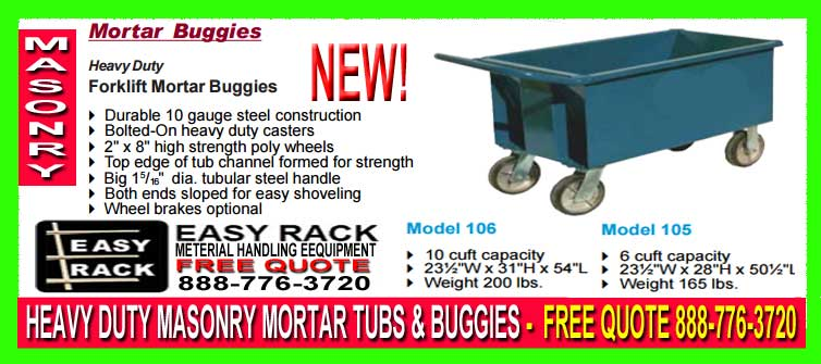 Mortar Buggies For Sale
