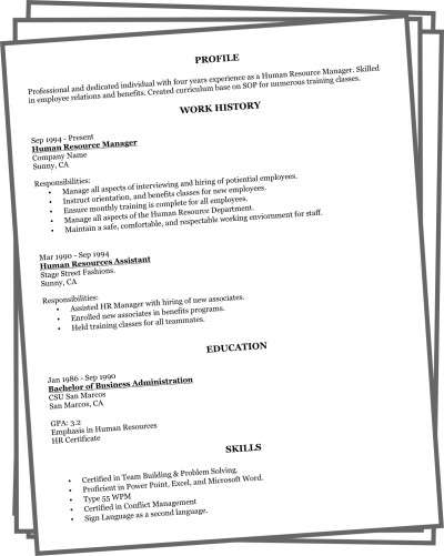 Online Resume Examples. Resume Samples The Ultimate Guide