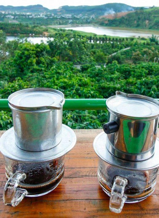 Koffie in Vietnam bij een koffieplantage