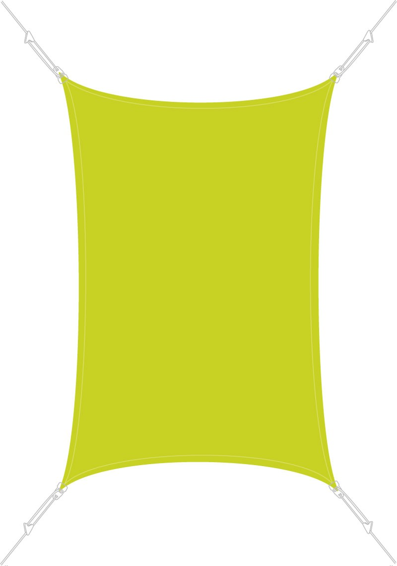 voile d ombrage rectangulaire 3 x 2 m vert anis
