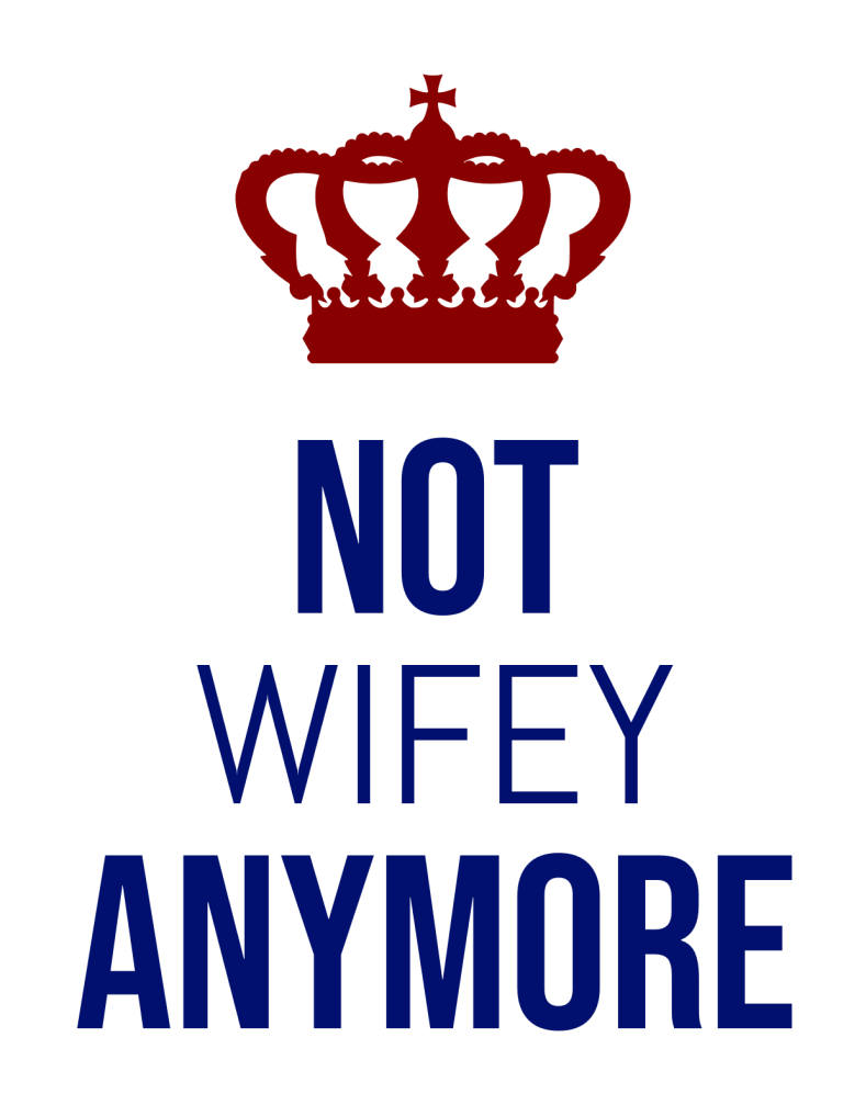 Finally divorced? Not wifey anymore svg