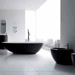 bagno moderno bianco nero