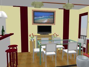 progettazione appartamento roma dettaglio salone