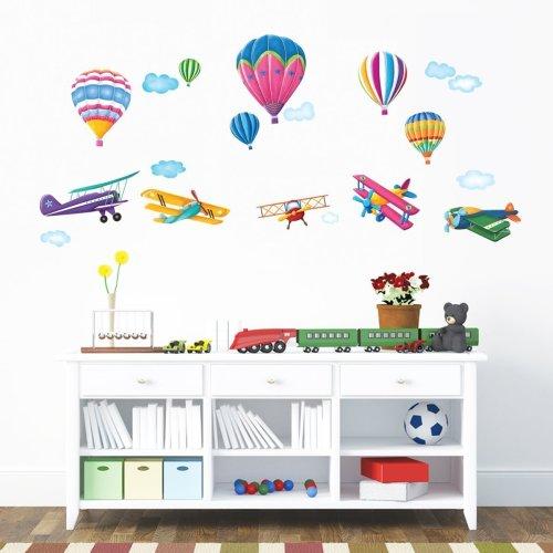 adesivi murali aeroplani